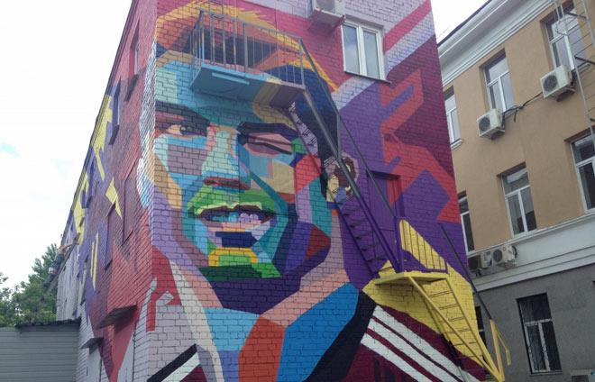 Очередное футбольное граффити нарисовали вКазани
