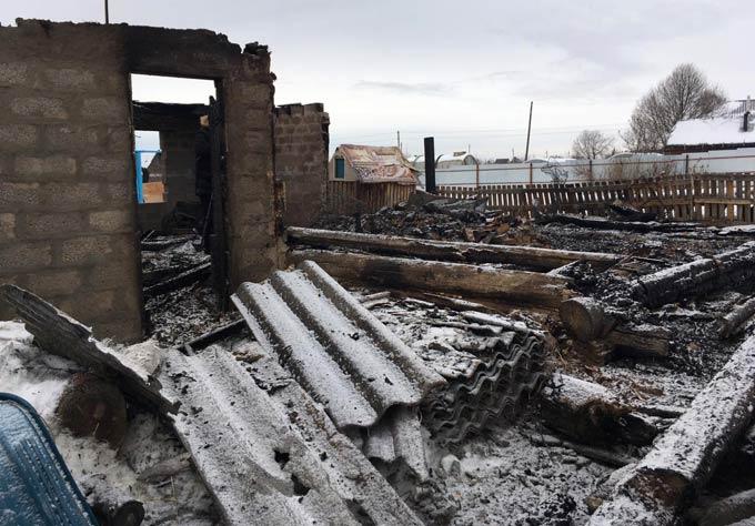 В Нижнекамском районе семье, потерявшей при пожаре все имущество, требуется помощь