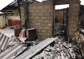 В Нижнекамском районе дотла сгорел дом