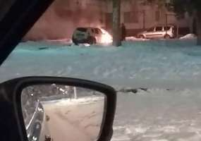 В Нижнекамске ночью сгорела иномарка