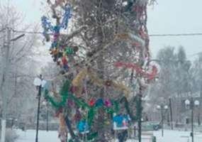 Жители одного из поселков в Татарстане попросили убрать«портящую настроение» елку