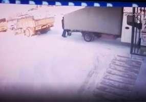 Появилось видео момента смертельного наезда на сотрудника ЧОП «Динамо» в Нижнекамске