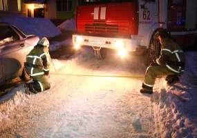 Нижнекамские  пожарные проверили состояние проездов во дворах