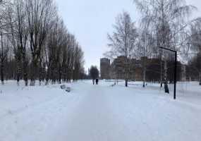 В Нижнекамске идет снег, 5 градусов мороза