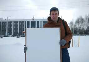Активист из Нижнекамска провел одиночный пикет в Набережных Челнах
