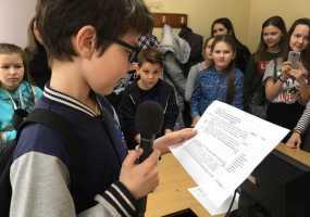 «Декада отрытых дверей НТР». Ученики пятого класса гимназии №25