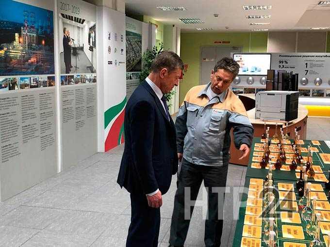 Побывавшему в Нижнекамске Дмитрию Козаку рассказали об инициативе создания нефтегазохимического комплекса