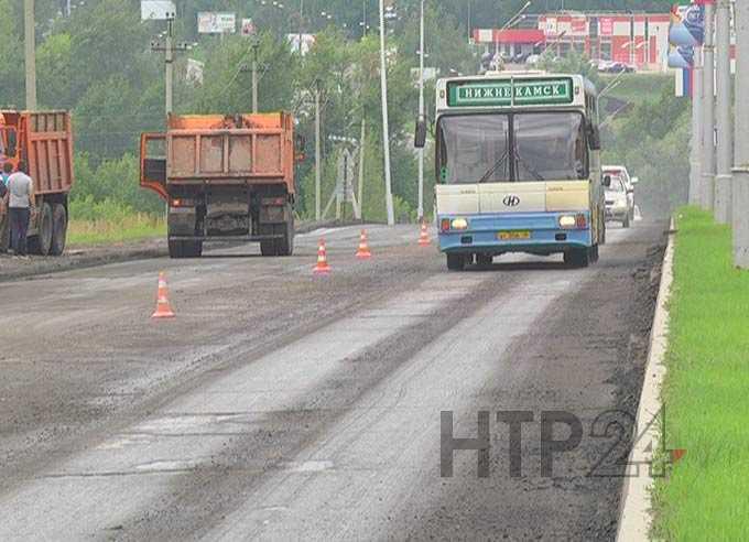 В Нижнекамске на Соболековской трассе из-за ремонта вводятся временные ограничения