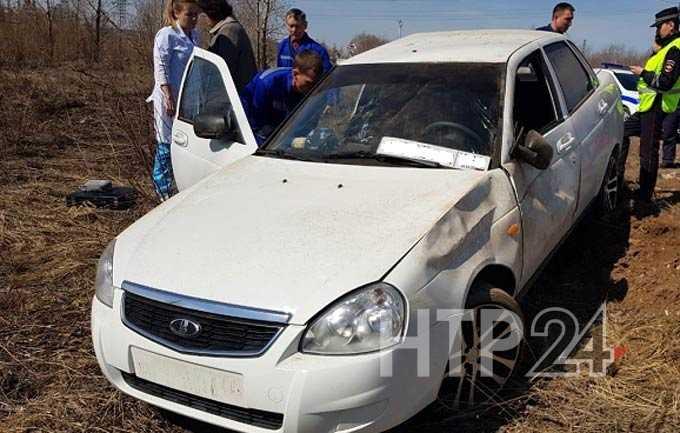 В Нижнекамске пассажир перевернувшейся «Лады Приоры» получил серьезные травмы