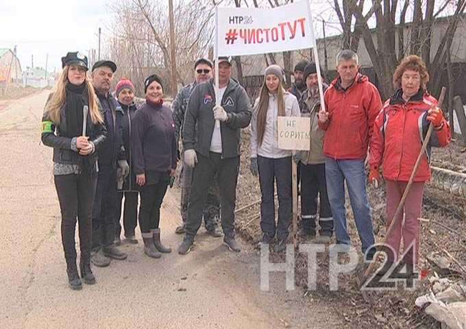 Жители поселка Строителей навели порядок на улице Якты