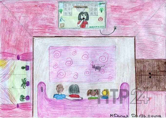 """Участник конкурса """"Я смотрю НТР-2019"""": Далия Мингазова, 4 года"""