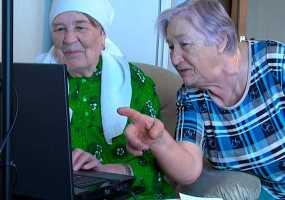 Нижнекамских пенсионеров призывают сказать на всю Россию спасибо Интернету