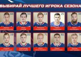 Хоккейные болельщики Нижнекамска выбирают лучшего игрока «Нефтехимика»