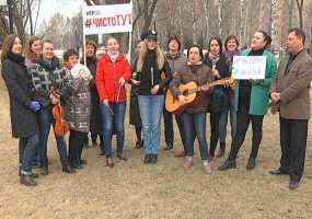 Ученики и педагоги ДМШ №1 Нижнекамска отложили музыкальные инструменты и взялись за мётлы