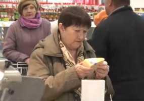 Посетители одного из гипермаркетов Нижнекамска столкнулись с приятным сюрпризом