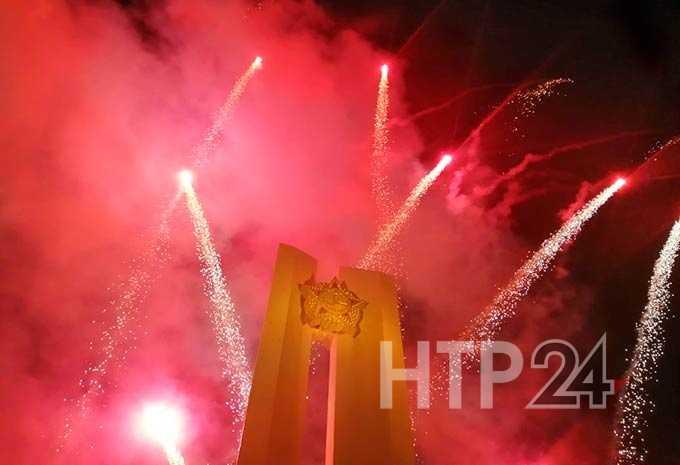 В Нижнекамске в честь Дня Победы дан праздничный салют из более тысячи залпов