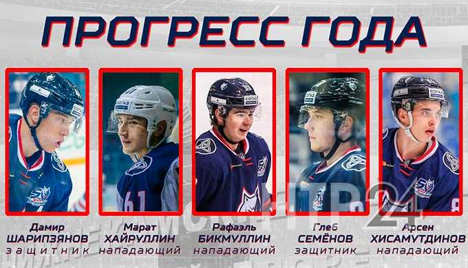 Хоккейным болельщикам предлагают выбрать самого прогрессирующего игрока «Нефтехимика» из Нижнекамска