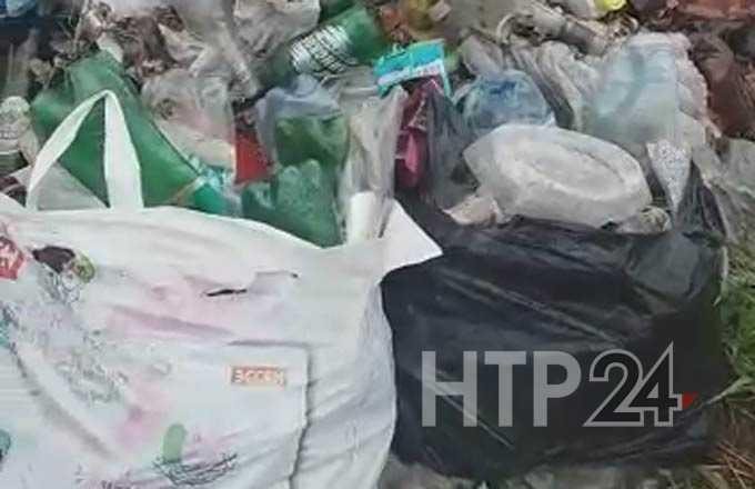 В Нижнекамске прохожие нашли кучу мусора за торговым центром