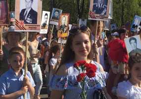 35 тыс жителей Нижнекамска прошли 9 мая в рядах «Бессмертного полка»