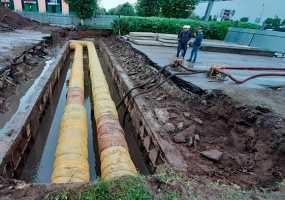 В Нижнекамске дожди могут внести коррективы в проведение капремонта теплотрассы по ул.Баки Урманче