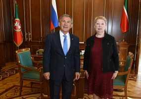 Рустам Минниханов провел переговоры с министром просвещения РФ Ольгой Васильевой