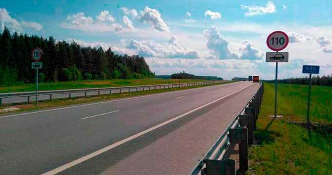 На трассе М-7 в Татарстане максимальную скорость увеличили до 110 километров в час