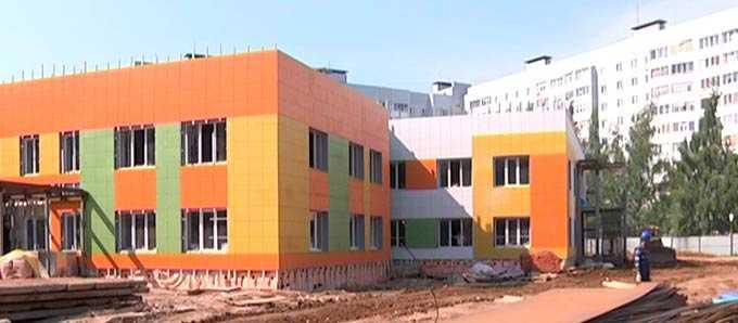 Строительство двух детских садов в Нижнекамске вышло на финишную прямую
