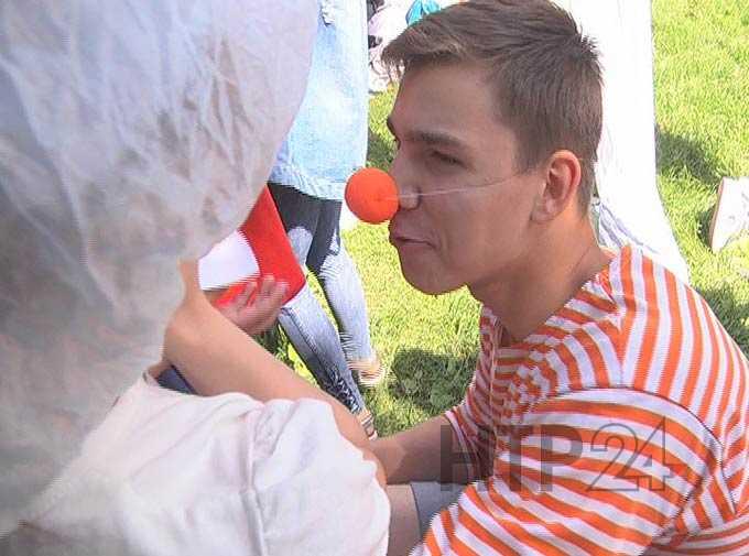 В Нижнекамском парке прошел инклюзивный праздник «Чемодан чудес»