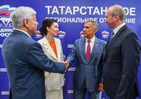 Фарид Мухаметшин и Владимир Чагин возглавили список «Единой России» на выборах в Госсовет РТ