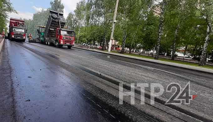 В Нижнекамске при ремонте одной из городских дорог используют немецкий асфальтобетон