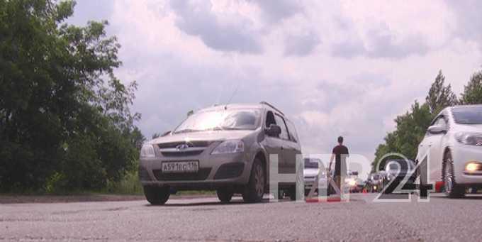 В Нижнекамск ведет одна из самых аварийных дорог  Татарстана