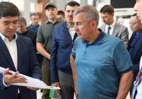 Рустам Минниханов проинспектировал готовность выставочного центра «Казань Экспо» к проведению WorldSkills