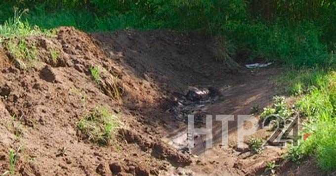 В Татарстане жителей деревни шокировал «земляной фонтан»