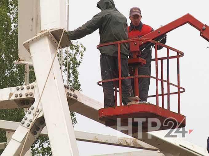 Перед запуском нового колеса обозрения в Нижнекамске в кабинки «посадят» мешки с песком