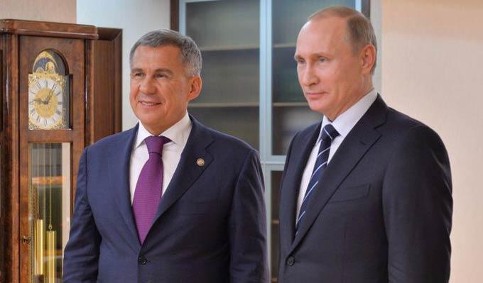 Минниханов о Путине: Это профессионал очень высокого уровня, человек железной воли