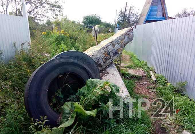 В Нижнекамске строительный мусор преградил дорогу дачникам