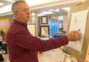 В Нижнекамске известный художник дал мастер-класс жителям города