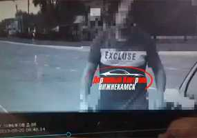 В Нижнекамске дорожная камера сняла момент, как ее накрывают пакетом