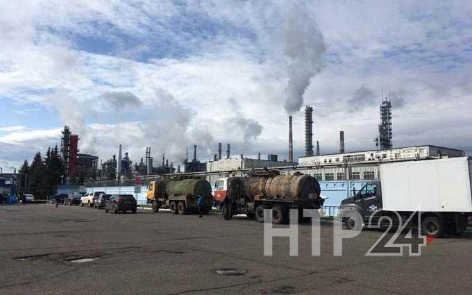 В Нижнекамске было потушено возгорание на территории промзоны