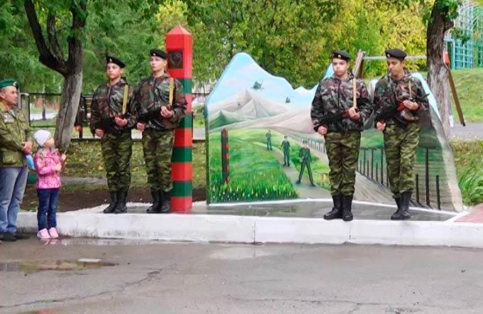 В поселке Красный Ключ открыли мемориал пограничникам