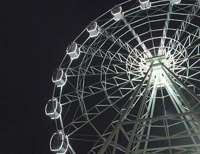 Вид с нового колеса обозрения «Манзара» в Нижнекамске