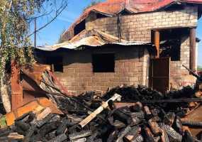 В Нижнекамском районе сгорел двухэтажный дом