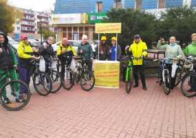В Нижнекамске в день проведения акции «На работу на велосипеде» работали «энергетические» точки