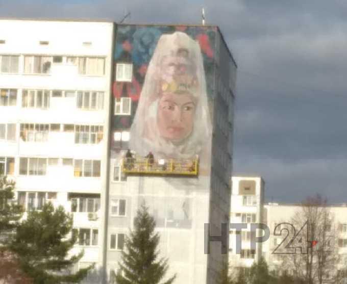 В Нижнекамске появились первые наброски нового граффити