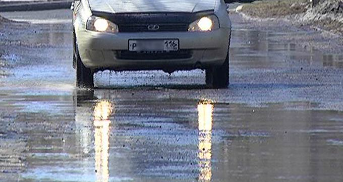 Синоптики предупреждают о гололедице на дорогах Татарстана