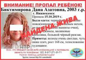 В Нижнекамске объявленная в розыск девочка-подросток вернулась домой