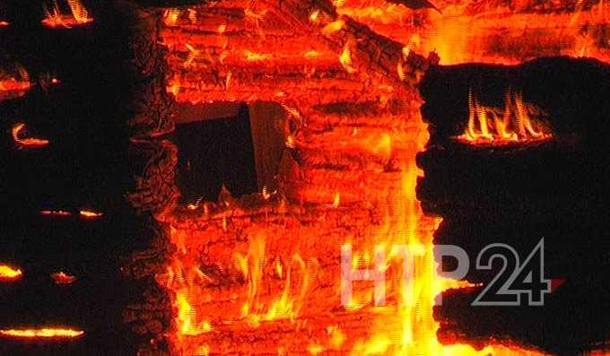 Причиной пожара в Нижнекамском районе может быть поджог