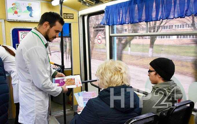 В Нижнекамске на линию вышел необычный трамвай