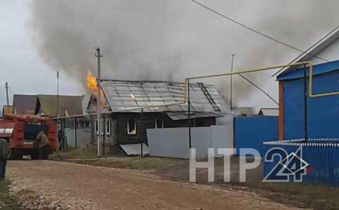 В Нижнекамском районе из-за непотушенной сигареты сгорел дом