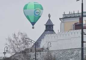 В канун Дня народного единства в небо Казани запустили аэростат «МИРа»